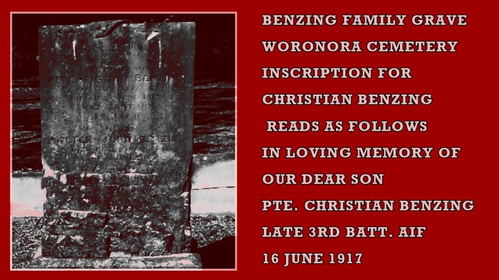 benzing grave